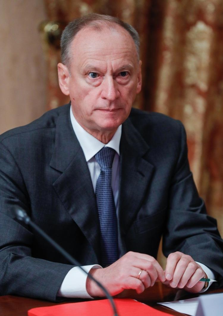 Николай Патрушев,Секретарь Совета Безопасности РФ, приветствуетобмен мнениями в рамках ТБ Форума