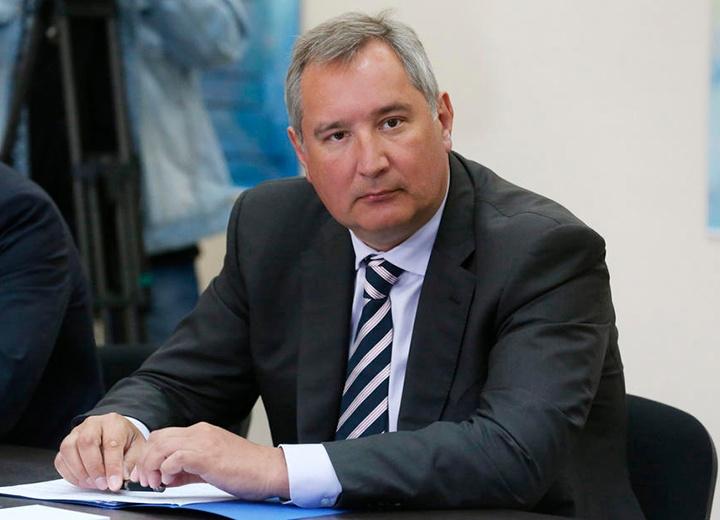 Вице-премьер Дмитрий Рогозин приветствует участников ТБ Форума 2018