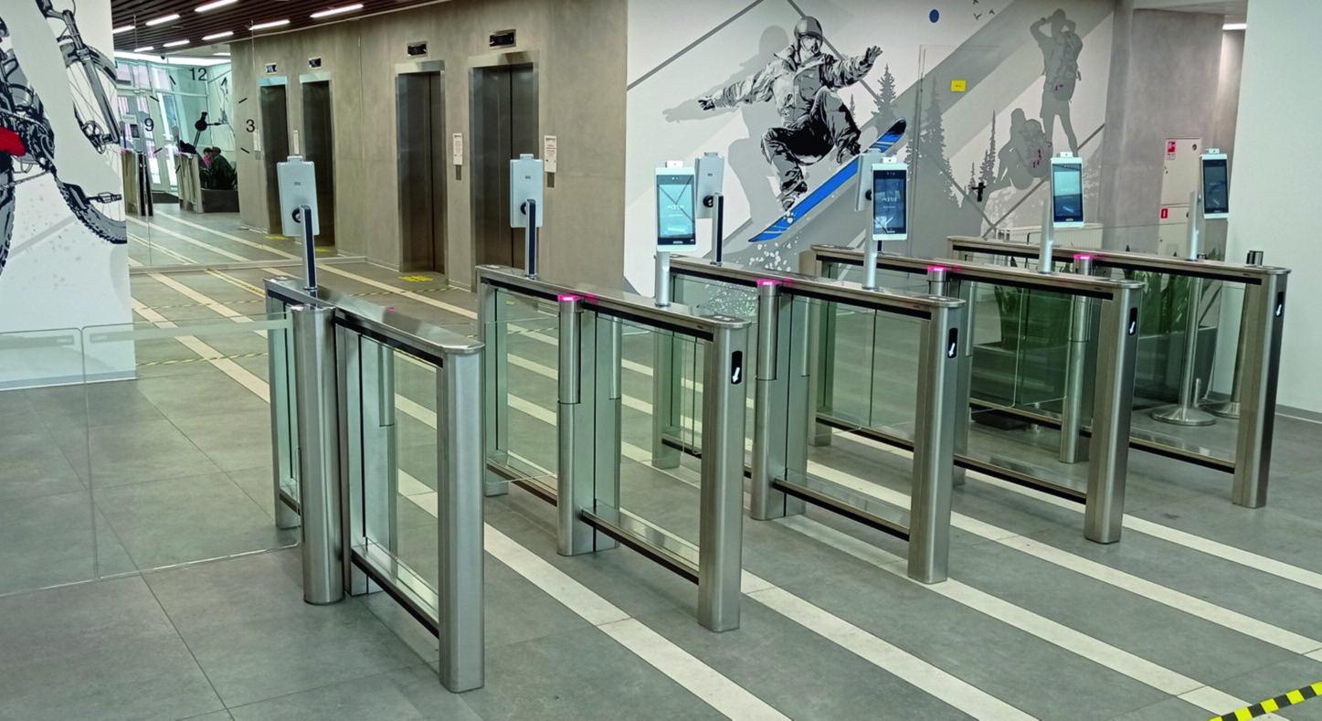 Внедрение системы распознавания лиц с измерением температуры на проходной в бизнес-центре